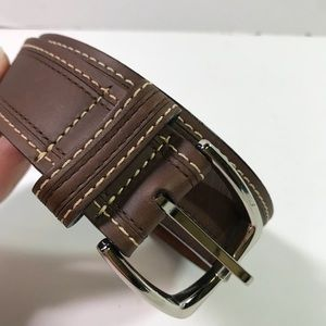 Cole Haan Men's Adjustable Brown Leather Belt 32